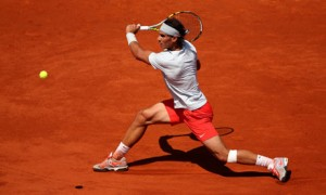 Rafael Nadal during his French Open men's singles semi-final against Novak Djokovic